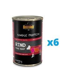 BELCANDO Single Protein Wołowina 6x400 g mokra karma dla psa