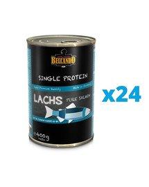 BELCANDO Single Protein Łosoś 24x400 g mokra karma dla psa