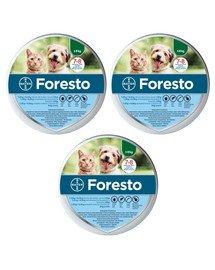 BAYER FORESTO Obroża dla kota i psa przeciw kleszczom i pchłom poniżej 8 kg zestaw 3 szt.