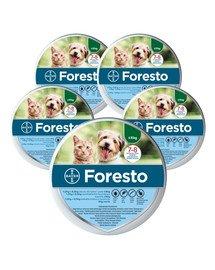 BAYER FORESTO Obroża dla kota i psa przeciw kleszczom i pchłom poniżej 8 kg zestaw 5 szt.