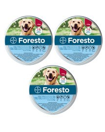 BAYER FORESTO Obroża foresto dla psa przeciw kleszczom i pchłom powyżej 8 kg zestaw 3 szt.