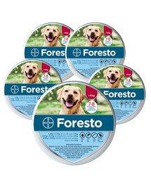 BAYER FORESTO Obroża foresto dla psa przeciw kleszczom i pchłom powyżej 8 kg zestaw 5 szt.