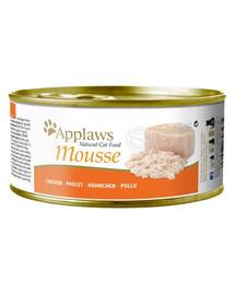 APPLAWS Cat Mousse Tin Chicken 72x70g mokra karma dla kota - Kurczak w musie
