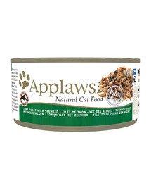 APPLAWS Cat Tin Tuna Fillet and Seaweed 72x70g mokra karma dla kota - Filet z tuńczyka i wodorosty