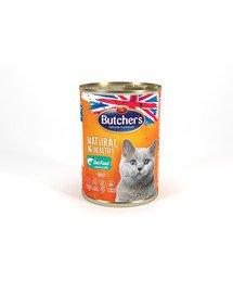 BUTCHER'S Natural&Healthy Cat z rybą morską kawałki w galarecie 400 g x 6 (5+1 GRATIS)
