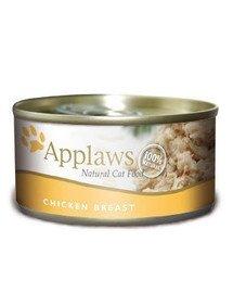 APPLAWS Kot puszka pierś z kurczaka 70 g x 12 (10+2 GRATIS)