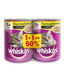 Adult puszka 24x400g - mokra karma dla kotów z kurczakiem w sosie (12szt. za 50%)