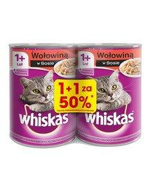 Adult puszka 24x400g - mokra karma dla kotów wołowiną w sosie (12szt. za 50%)