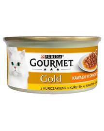 Gold Sauce Delights z kurczakiem 24x85 g mokra karma dla kotów