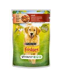 Vitafit Adult z jagnięciną i marchewką w sosie 100g mokra karma dla psów