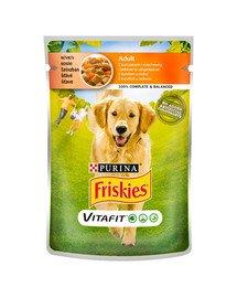Vitafit Adult z kurczakiem i marchewką w sosie 100g mokra karma dla psów