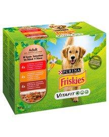 Vitafit Adult Mix smaków mięsnych 12x100g mokra karma dla dorosłych psów