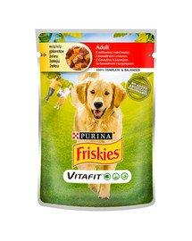 Vitafit Adult z wołowiną i marchewką 20x100g mokra karma dla dorosłych psów