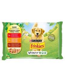 Vitafit Adult Mix smaków w galaretce 4x100g mokra karma dla dorosłych psów