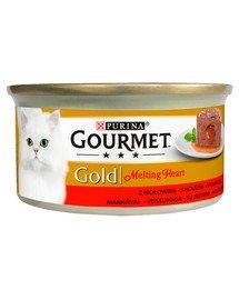Gold Melting Heart Wołowina 24x85g mokra karma dla kotów