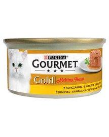 Gold Melting Heart Kurczak 24x85g mokra karma dla kotów