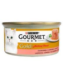 Gold Melting Heart Łosoś 24x85g mokra karma dla kotów