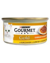 Gold Sauce Delights z kurczakiem 85 g mokra karma dla kotów