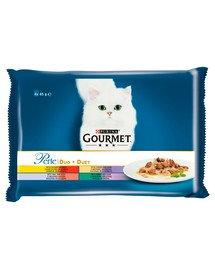 Perle Duet Mięsny 4x85g mokra karma dla kotów