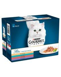 Perle Kolekcja Mini Filecików w sosie 72x85g mokra karma dla kotów