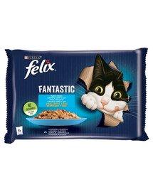 FANTASTIC Rybne Smaki w galaretce 48x85g mokra karma dla kota