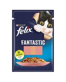 FELIX FANTASTIC Łosoś w galaretce 26x85g mokra karma dla kota