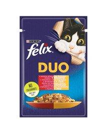 Duo Wołowina i Drób w galaretce 85 g mokra karma dla kota