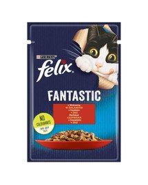 FANTASTIC Wołowina w galaretce 26x85g mokra karma dla kota