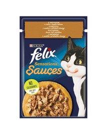 Sensations Sauce Indyk w sosie o smaku bekonu 85g mokra karma dla kota