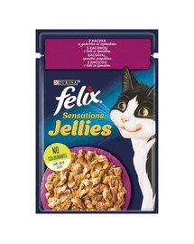 Sensations Jellies Kaczka w galaretce ze szpinakiem 85g mokra karma dla kota