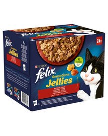 Sensations Jellies Wiejskie Smaki w galaretce 96x85g mokra karma dla kota