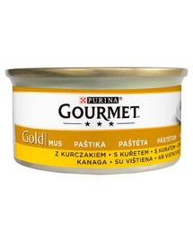Gold Mus z kurczakiem 24x85 g mokra karma dla kotów