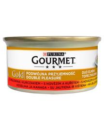 Gold Mix z wołowiną i kurczakiem 24x85g mokra karma dla kotów