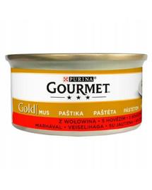 Gold Mus z wołowiną 24x85g mokra karma dla kotów