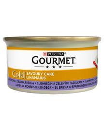 GOURMET Gold Savoury Cake Z Jagnięciną i Zieloną Fasolką 24 x 85 g