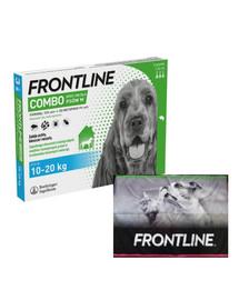 FRONTLINE Combo Spot-On przeciw kleszczom i pchłom dla średnich psów M (10-20 kg) 3 pipetki + ręcznik do łapek GRATIS