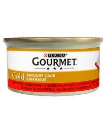 GOURMET Gold Savoury Cake Z Wołowiną i Pomidorami 24x85 g