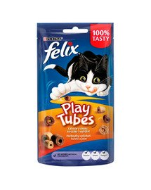 Play Tubes kurczak i wątróbka 8x50 g