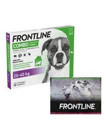 FRONTLINE Combo Spot-On przeciw kleszczom i pchłom dla dużych psów L (20-40 kg) 3 pipetki + ręcznik do łapek GRATIS