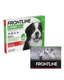 FRONTLINE Combo Spot-On przeciw kleszczom i pchłom dla psów bardzo dużych XL (40-60 kg) 3 pipetki + ręcznik do łapek GRATIS