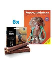 "SIMPLY FROM NATURE Naturalne cygara z mięsem kaczki 6x3 szt. (5+1 GRATIS) + książka ""Podstawy szkolenia psa"" GRATIS"