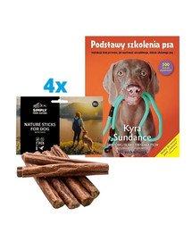 """SIMPLY FROM NATURE Naturalne cygara z mięsem kaczki 4x7 szt. + książka """"Podstawy szkolenia psa"""" GRATIS"""