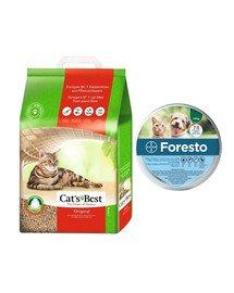 JRS Cat's Best Eco Plus 10 l + BAYER FORESTO Obroża dla kota i psa przeciw kleszczom i pchłom poniżej 8 kg