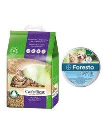 JRS Cat's Best Smart Pellets 5l żwirek zbrylający dla kota + BAYER FORESTO Obroża dla kota i psa przeciw kleszczom i pchłom poniżej 8 kg