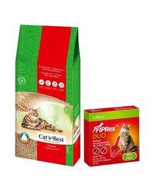 JRS Cat's best eco plus 40 l + VET-AGRO Fiprex Duo Preparat na kleszcze i pchły dla kotów i fretek