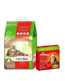 JRS Cat's Best Eco Plus 10 l + VET-AGRO Fiprex Duo Preparat na kleszcze i pchły dla kotów i fretek
