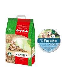 JRS Cat's best eco plus 20 l + BAYER FORESTO Obroża dla kota i psa przeciw kleszczom i pchłom poniżej 8 kg