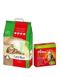 JRS Cat's best eco plus 20 l + VET-AGRO Fiprex Duo Preparat na kleszcze i pchły dla kotów i fretek