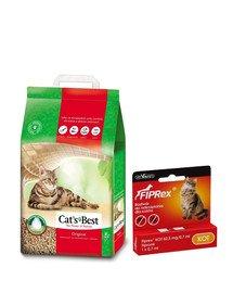 JRS Cat'S best eco plus 7l (3 kg) + VET-AGRO FIPREX SPOT ON kot 1 szt.