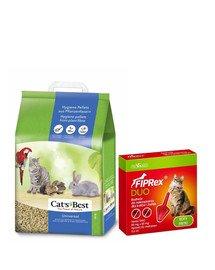 JRS Cat'S best universal 7l (4 kg) + VET-AGRO Fiprex Duo Preparat na kleszcze i pchły dla kotów i fretek